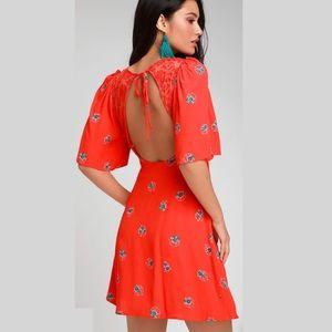 NWT Free People Mockingbird Mini Dress